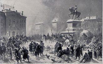 Second Battle of Orléans (1870) - German troops enter Orléans on 4 December 1870