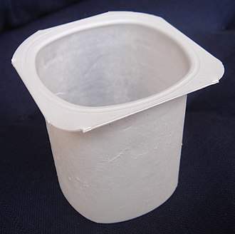 Polystyrene - A polystyrene yogurt container