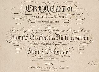 Erlkönig (Schubert) Lied by Franz Schubert set to Goethes poem