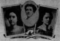 Ernestine Noa, Louise Munford Peeples, Elizabeth Fry Page (l-r) 1899.png