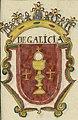 Escudo da Galiza no Libro de blasones y escudos de armas (séc. XVII-XVIII).jpg