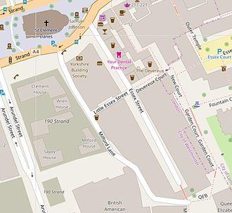 190 Strand - Location of 190 Strand