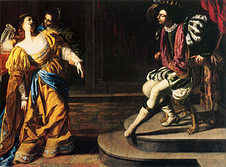 Esther (Handel) - Esther before Ahasuerus by Artemisia Gentileschi