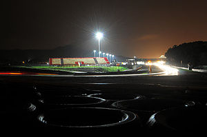 Autódromo Fernanda Pires da Silva - First corner of Estoril track in the VdeV 2009 night race