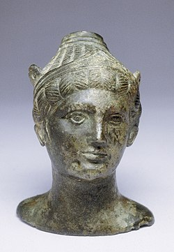 Etruscan - Balsamarium in the Form of a Deity with Winged Helmet - Walters 543004.jpg