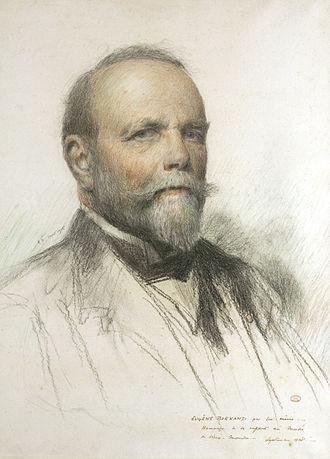 Eugène Burnand - Eugène Burnand pastel and pencil self-portrait 1915