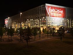 Eurovision-Arena at Night