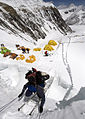 Everest Peace Project - Climbing ladder northcol everest.jpg