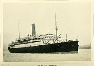 HMHS Asturias - Image: Every boy's book of railways and steamships (1911) (14736036766)