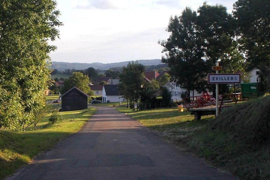 Entrée d'Évillers (Doubs).