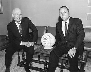 Ewing Kauffman - Kauffman with Royals general manager Cedric Tallis, 1968