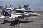 FA-18C Hornet of VFA-37 lands on USS George H.W. Bush (CVN-77) in the Arabian Sea on 6 April 2017.JPG