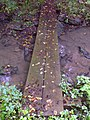 FLT M27 11.2 mi - Puncheon over reliable branch of Cold Spring Creek, 2 2x12s, 18' long, 2 6x6 and 2 4x4 sills, cabled - panoramio.jpg