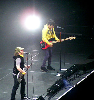 Folie à Deux (album) - Patrick Stump and Pete Wentz performing in London on October 22, 2008. The two worked together at Stump's home during the early stages of the album's development.