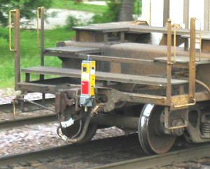 Caboose - An end-of-train device on a train in 2005