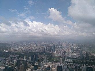 Shun Hing Square - Image: FREESKY观光层上所见的深圳之景