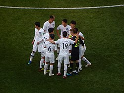 FWC 2018 - Group F - KOR v SWE - Team Korea before the match.jpg