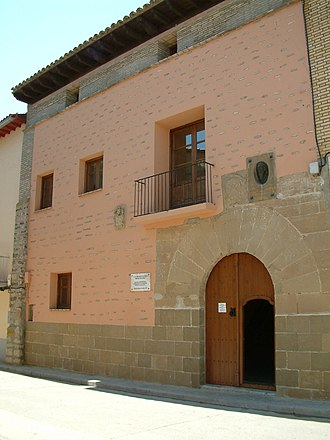 Michael Servetus - Façade of the house of Michael Servetus in Villanueva de Sigena (Spain). Nowadays it is the headquarters of the Michael Servetus Institute and a research centre of Servetus' life and works.