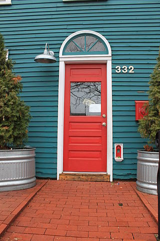 Fairy red door in Ann Arbor, Michigan