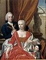 Family Portrait of Berend van Iddekinge with his Wife Johanna Maria Sichterman and their young Son Jan Albert (born 1744) by Philip van Dijk.jpg