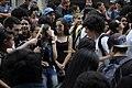Fanfare cheering demonstrators, São Paulo, 2015.jpg