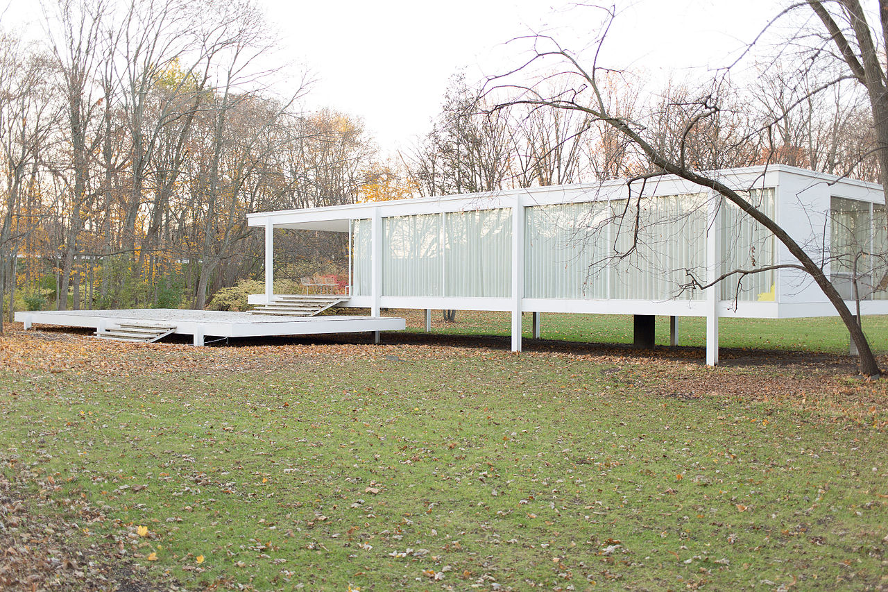 File farnsworth house by mies van der rohe exterior 7 for Casa minimalista wikipedia