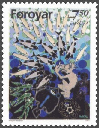 William Heinesen - Image: Faroe stamp 310 marmennil the little merman