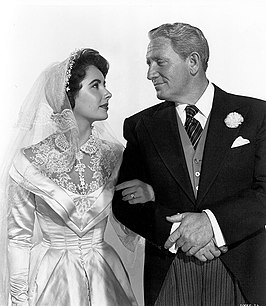 Publiciteitsfoto van Elizabeth Taylor en Spencer Tracy voor Father of the Bride