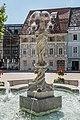 Feldkirchen Hauptplatz Nymphenbrunnen Brunnenfigur 28062016 2974.jpg