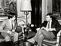 Felipe González recibe al presidente de la Junta de Castilla-La Mancha. Pool Moncloa. 1 de febrero de 1983.jpg