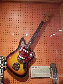 fender jaguar (1965) with bridge cover and mute installed