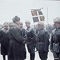 Field marshal Mannerheim greeting members of the Swedish Volunteer Battalion, Hanko, Finland 1941. (46089161394).jpg