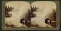 Fifteen-minute display of 'Riverside Geyser' – boiling water 100 feet in air – Yellowstone Park, U.S.A, by Underwood & Underwood 2.png