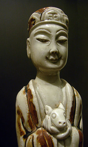 Jingdezhen porcelain funerary figurine made in the Song dynasty