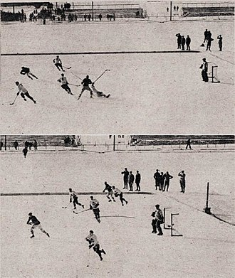 Ice hockey at the 1924 Winter Olympics - The final game, between Canada and the United States.