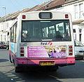 First Hampshire & Dorset bus 50303 (S409 GUB) 1998 Mercedes-Benz 814D (Vario) Plaxton Beaver 2, Portsmouth, 8 March 2011.jpg
