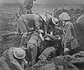 First World War; digging out wounded from trenches Wellcome L0006417.jpg