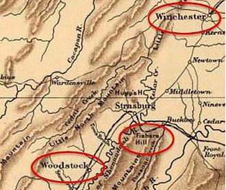 2nd West Virginia Volunteer Cavalry Regiment - Fisher's Hill and surrounding area