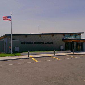 Fitchburg Municipal Airport - Image: Fitchburg Municipal Airport Terminal
