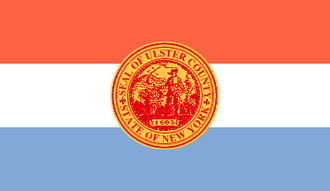 New Paltz, New York - Image: Flag of Ulster County, New York