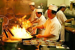 Cantonese cuisine - Image: Flaming wok by Kelly B in Bountiful, Utah