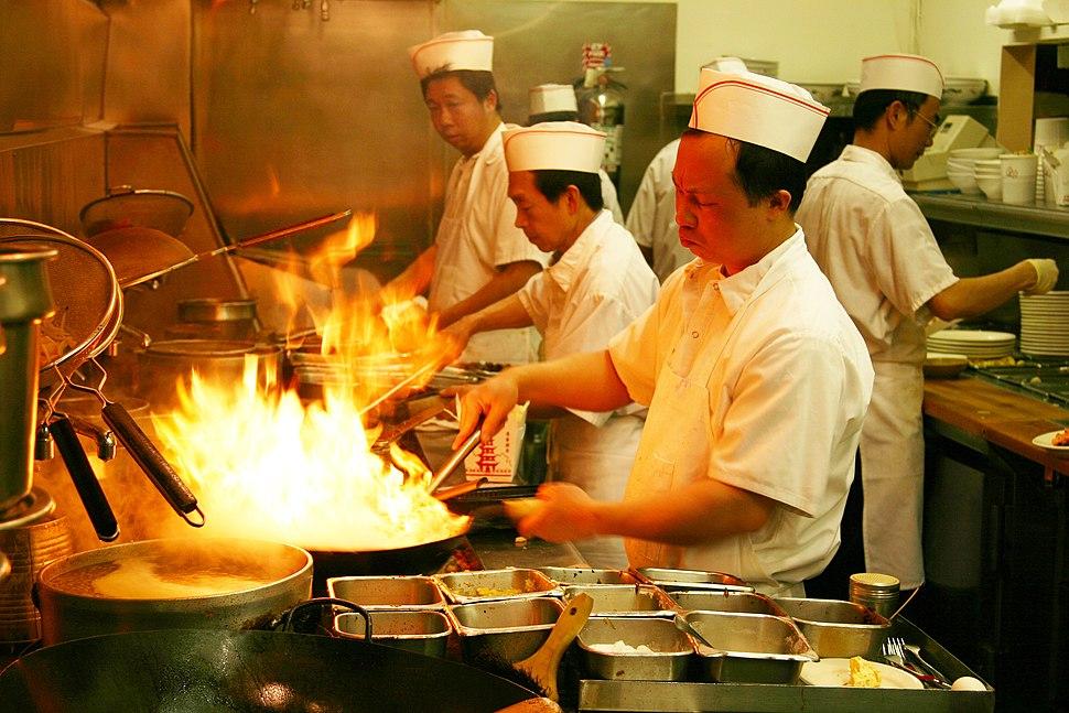 Flaming wok by KellyB in Bountiful, Utah