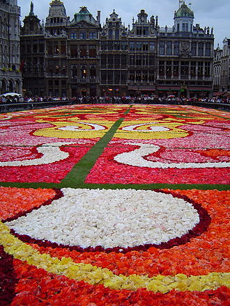 Flower Carpet - Image: Floral Carpet Brussels
