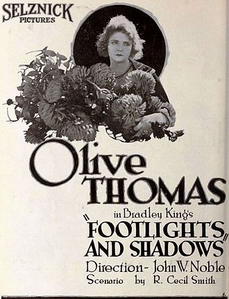 John W. Noble - Ad for Footlights and Shadows (1920)