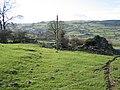 Footpath past Pen -y-bryn Farmhouse - geograph.org.uk - 354513.jpg