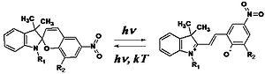 Quasi-crystals (supramolecular) - Scheme 1. Formation of merocyanine dipoles upon irradiation