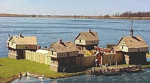 Fort Beauharnois - A model of Fort Beauharnois at the Musée de la civilisation in Quebec City