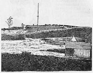 Fort Marcy Park - Fort Marcy as it appeared during the Civil War
