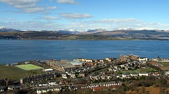 Renfrewshire Fortress Royal Engineers - The Fort Matilda area of Greenock, with the River Clyde behind