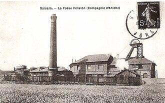 Somain, Nord - Fénelon mine around 1900.